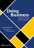 Doing Business in 2020, Comparing Business Regulation in  190 Economies