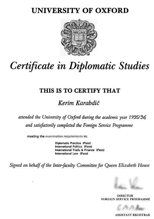University of Oxford, Foreign Service Programme